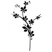 Dekorative blomster - wallstickers
