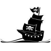 piratskib no. 2- wallsticker