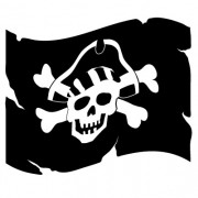 piratflag no. 3- wallsticker
