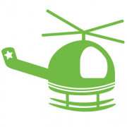 Helikopter- wallsticker