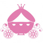 Prinsessekaret no. 2- wallsticker