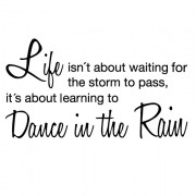 Dance in the rain no. 1- wallstickers