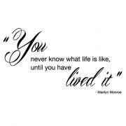 You never know no.1- Marilyn Monroe- wallstickers