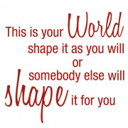 Shape your world no.1- wallstickers