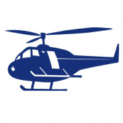 Helikopter - wallstickers
