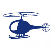 Wallsticker helikopter- wallstickers i folie til væggen...