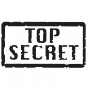Wallsticker skilt - Top Secret
