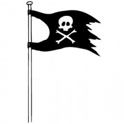 piratflag no. 2- wallsticker