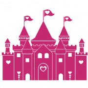 Prinsesseslot no. 1- wallsticker